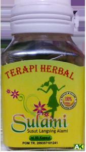 """Herbal Susut Perut Langsing Alami """"Sulami"""" 60 Kapsul ..."""